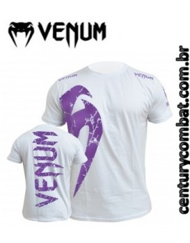 Camiseta Venum Giant Branca Roxa