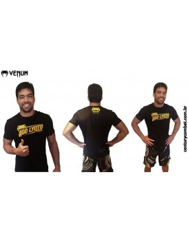 Camiseta Venum Hashtag Lyoto Preta Amarela