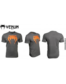 Camiseta Venum Interference Cinza Laranja