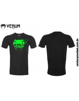 Camiseta Venum New Interference Preta Verde Flúor