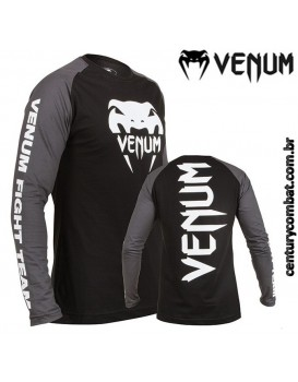 Camiseta Venum Pro Team Long Sleeves Black Grey