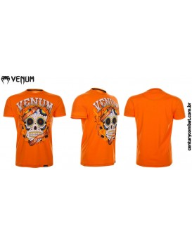 Camiseta Venum Santa Muerte Laranja