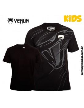Camiseta Venum Snake Attack Infantil Preta
