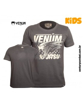 Camiseta Venum Snake Jiu Jitsu Infantil Cinza