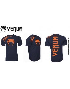 Camiseta Venum Training Azul Laranja