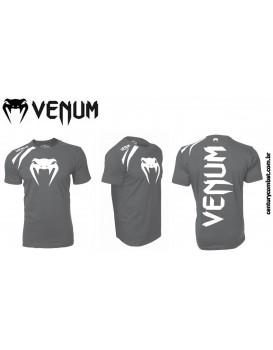 Camiseta Venum Training Cinza Branca