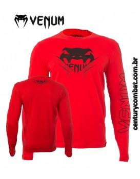 Camiseta Venum Winner Vermelha Manga Longa