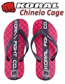 Chinelo Fight Koral Cage Vermelho
