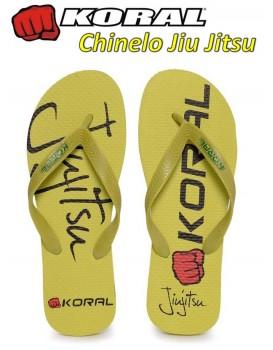 Chinelo Koral Fight Jiu Jitsu Amarelo
