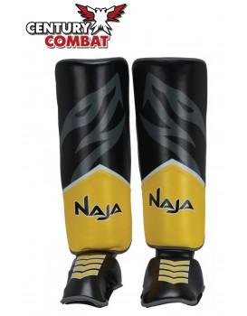 Caneleira Muay Thai Naja New Extreme Amarela