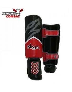 Caneleira Muay Thai Naja New Extreme Vermelha