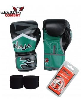 Kit Luva Boxe Muay Thai Naja New Extreme Verde