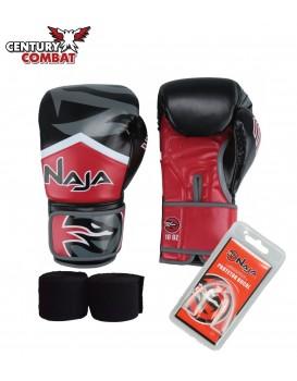 Kit Luva Boxe Muay Thai Naja New Extreme Vermelha