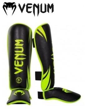 Caneleira Venum Challenger Standup Shinguards Verde Neon Preta