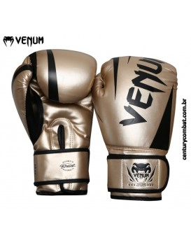 Luva Venum Boxe New Challenger Dourada