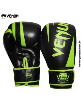 Luva Venum Boxe New Challenger Preta Verde