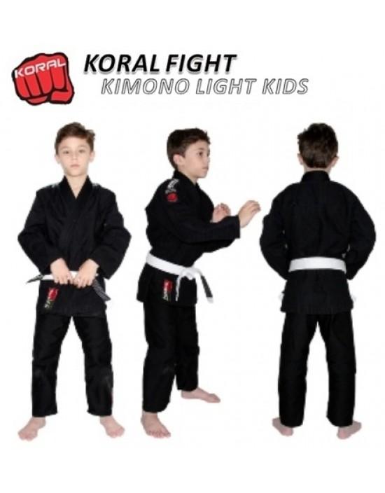 Kimono Koral Light Kids Preto