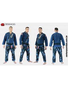 Kimono Koral Mkm Stone Camuflado Azul