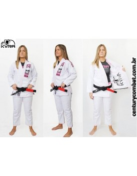 Kimono Kvra Feminino BJJ Style Branco