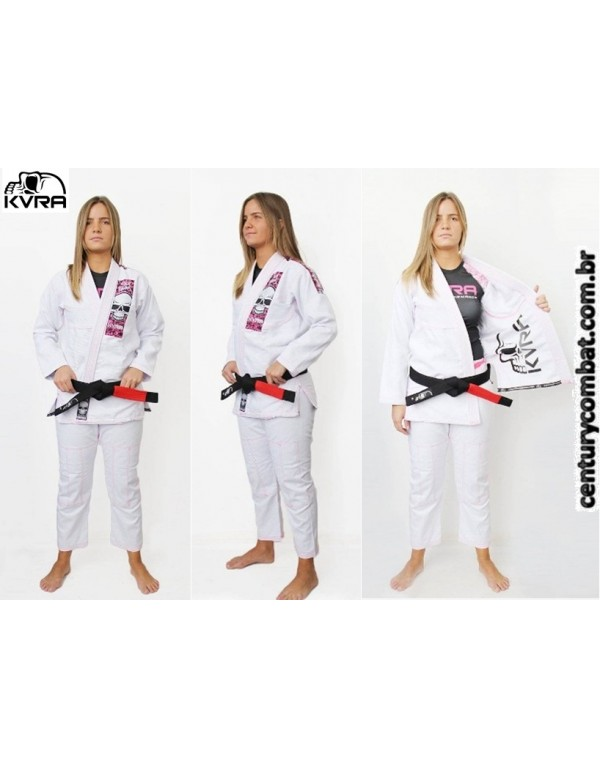 kimono kvra feminino bjj style branco 4efe5b73d8f5f