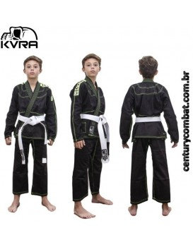 Kimono Kvra Infantil Bjj Style Preto