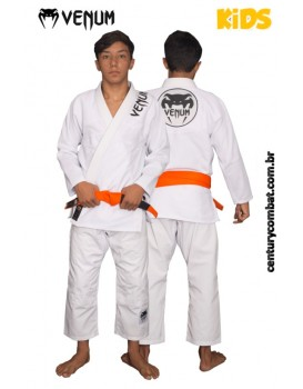 Kimono Venum Competidor Rip Junior Infantil Branco
