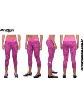 Calça Legging Corsário Venum Fusion Rosa