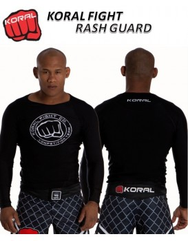 Rash Guard Koral Pro Competition Preta Manga Longa