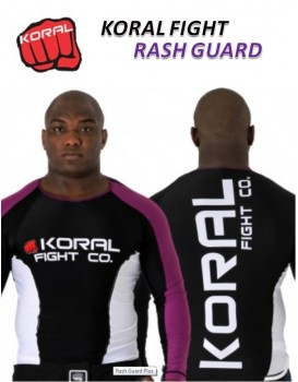 Rash Guard Koral Lycra Plus CO Roxa Preta Manga Longa