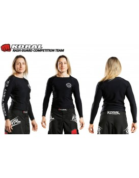 Rash Guard Koral Lycra Competition Team Preta Manga Longa