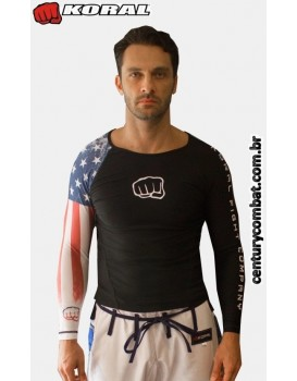 Rash Guard Koral Country Estados Unidos Preta