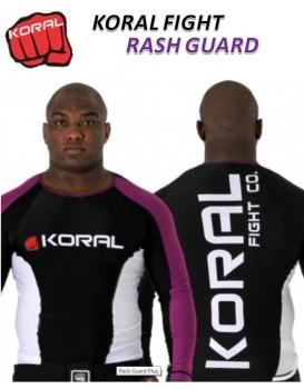 Rash Guard Koral Lycra Plus Roxa Preta Manga Longa