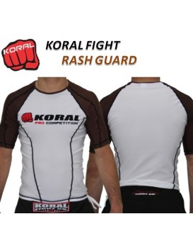 Rash Guard Koral Lycra Pro Competition Marrom Manga Curta