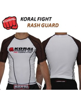 Rash Guard Koral Lycra Pro Competition CO Marrom Manga Curta