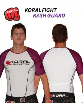 Rash Guard Koral Lycra Pro Competition Roxa Manga Curta
