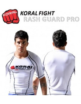 Rash Guard Koral Lycra Pro Competition Branca Manga Curta