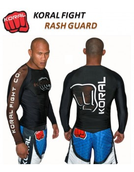 Rash Guard Koral Lycra Pro Competition Marrom Manga Longa