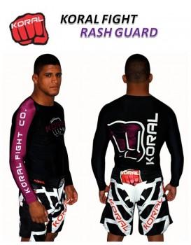 Rash Guard Koral Lycra Pro Competition Roxa Manga Longa