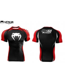 Rash Guard Lycra No Gi Approved Preta Vermelha