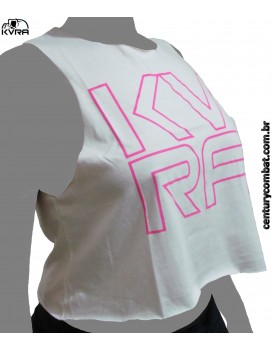 Cropped Kvra Crush Branca Rosa