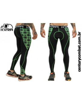 Legging Kvra Masculina Hi Skull Preta Verde