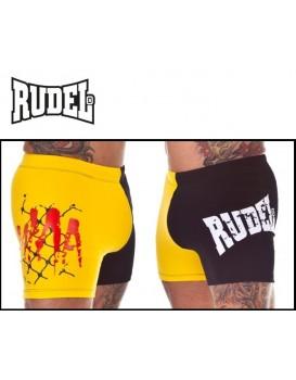Short Rudel Mma Suplex sem Coquilha Amarelo Preto