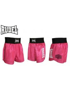 Short Muay Thai Rudel Cetim Serie II Rosa