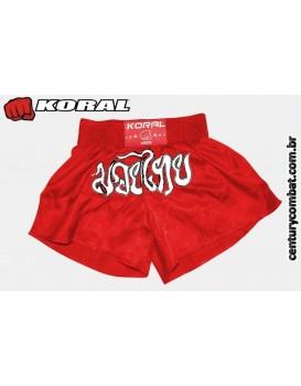 Short Koral Muay Thai Vermelho