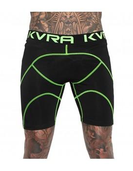 Shorts Kvra Skull Action Preto Verde Neon