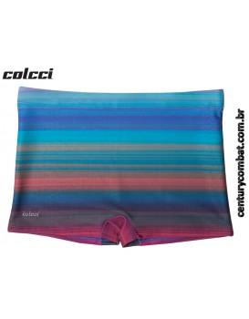 Sunga Boxer Colcci Estampada Listrada Azul Carbono