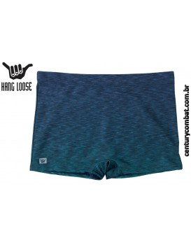 Sunga Boxer Hang Loose Estampada Azul Marinho