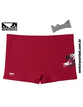 Sunga Bad Boy Boxer Lisa MMA Infantil Vermelho Escuro fa683aa296