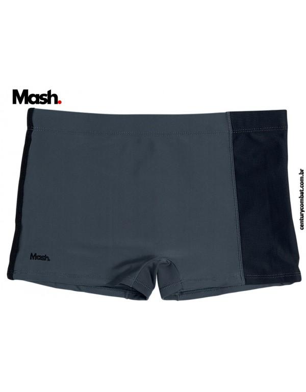 sunga boxer mash lisa com recorte super fit e bolso cinza chumbo 001aa5c05b